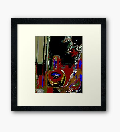 The Vase Collector Framed Print