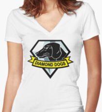 Diamond Dogs Women's Fitted V-Neck T-Shirt