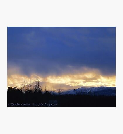 Storm Over Blacktail Mountain Photographic Print