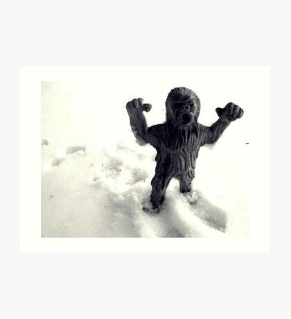02-08-2011 Winter Threatens aka YETI ATACK!!!! Art Print