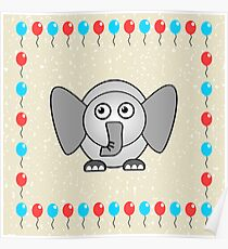 Little Cute Elephant Poster