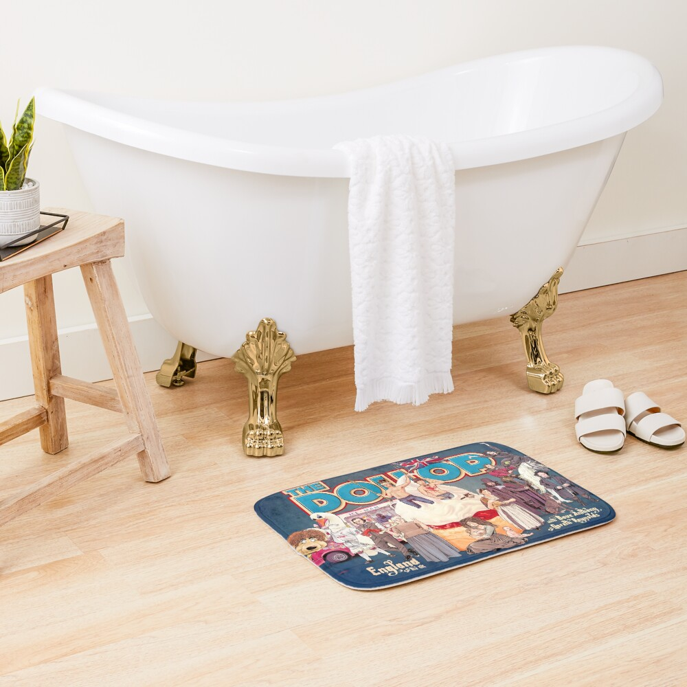 DOLLOP: England & the UK (poster) Bath Mat