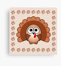 Little Cute Turkey Canvas Print