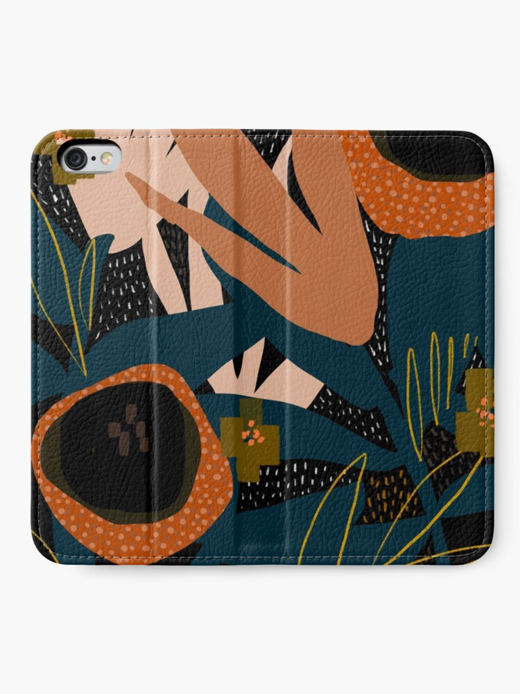 Alternate view of Evening meadow iPhone Wallet