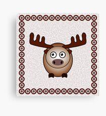 Little Cute Moose Canvas Print