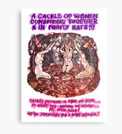 Pregnancy: Women in Pointy Hats Metal Print