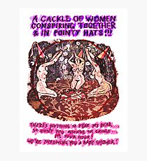 Pregnancy: Women in Pointy Hats Photographic Print