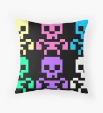 Rainbow skeletons Throw Pillow