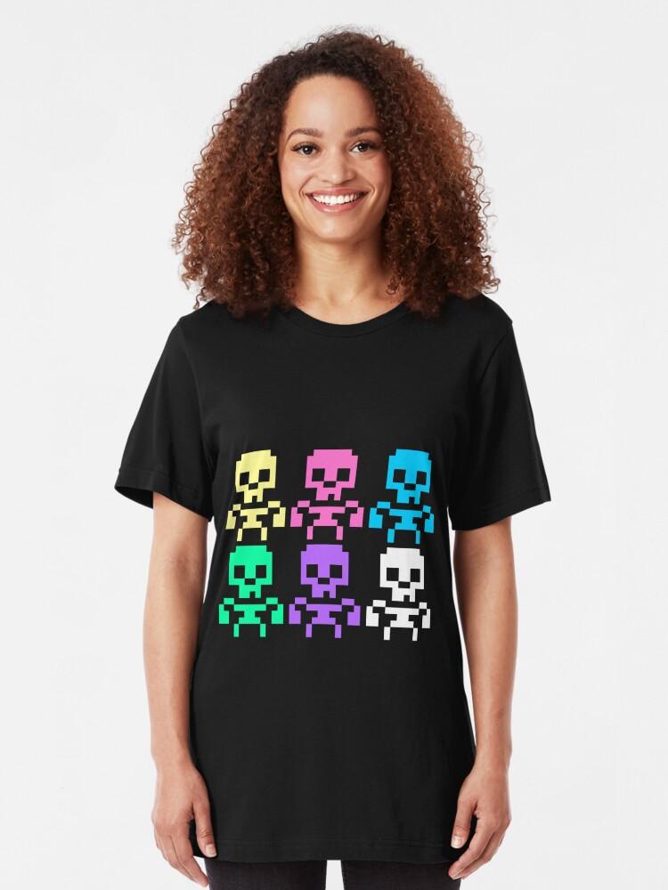 Alternate view of Rainbow skeletons Slim Fit T-Shirt
