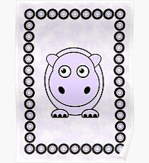 Little Cute Hippopotamus Poster