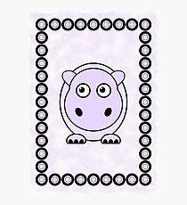Little Cute Hippopotamus Photographic Print