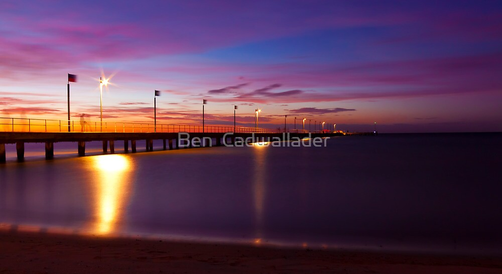 Frankston Pier - Sunset by Ben  Cadwallader