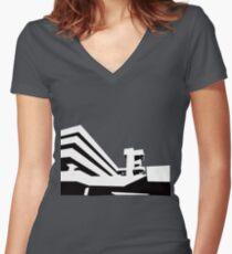 Tricorn Concept Art Women's Fitted V-Neck T-Shirt