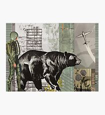 the astronaught walks along side the bear (horizontal) Photographic Print
