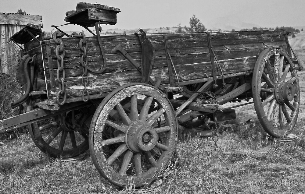 World Museum Of Mining - Old Time Black And White Wagon by IMAGETAKERS