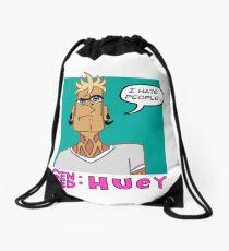 Huey Quote Drawstring Bag