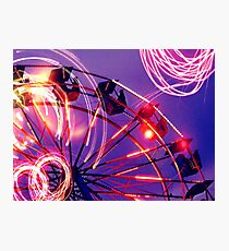 Evening at the fair Photographic Print
