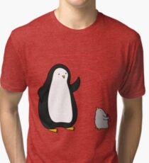 Little Penguin Likes to Draw! Tri-blend T-Shirt