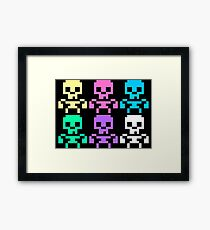 Rainbow skeletons Framed Print
