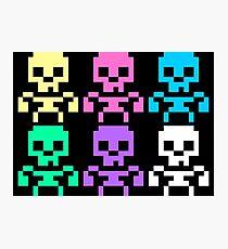 Rainbow skeletons Photographic Print