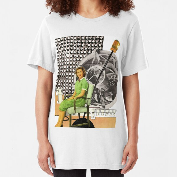 All of the sudden she realized she had an audience Slim Fit T-Shirt