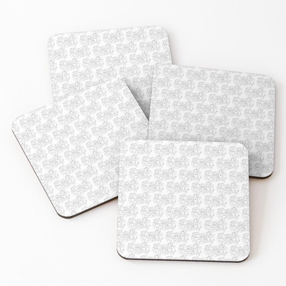 This is a tutorial about how to draw different faces Coasters (Set of 4)
