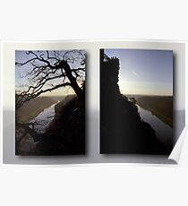 High above the Elbe river - diptych (Saxony Switzerland, Germany) Poster
