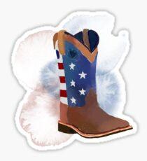 American flag boot Sticker