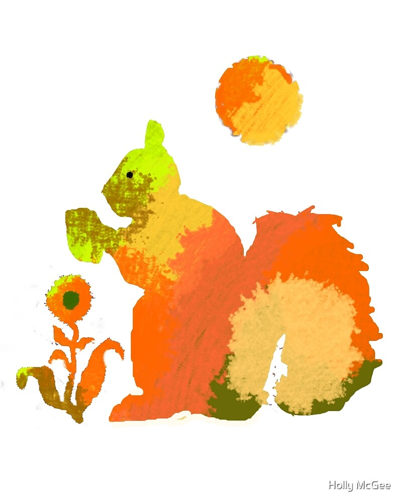 Colorful Squirrel With Nut by lollipoplake