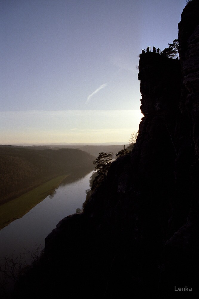 Bastei, lookout over the Elbe valley, Germany by Lenka