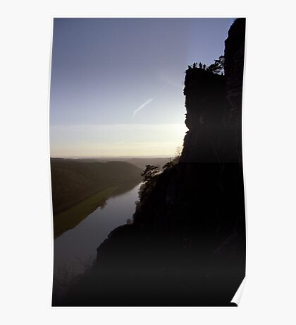 Bastei, lookout over the Elbe valley, Germany Poster