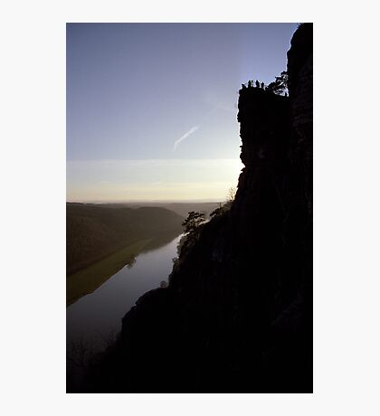 Bastei, lookout over the Elbe valley, Germany Photographic Print