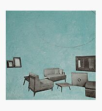 The living room is floating away Photographic Print