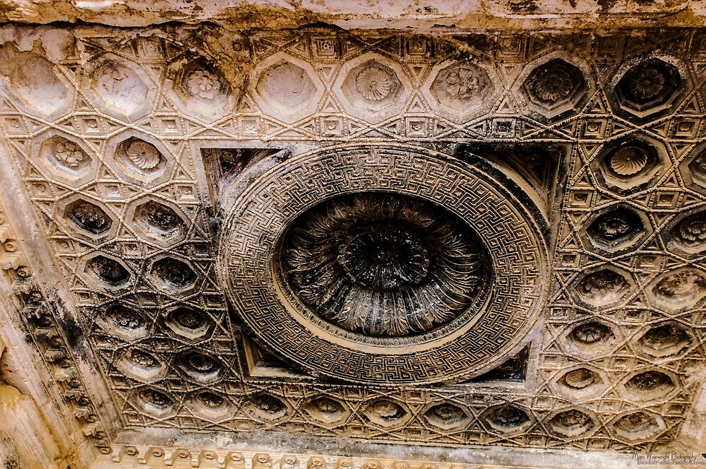 Ceiling Decoration in the Temple in Palmyra before it was destroyed by MarcW
