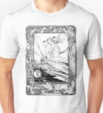 The Girl Riding the Dragonfly  T-Shirt