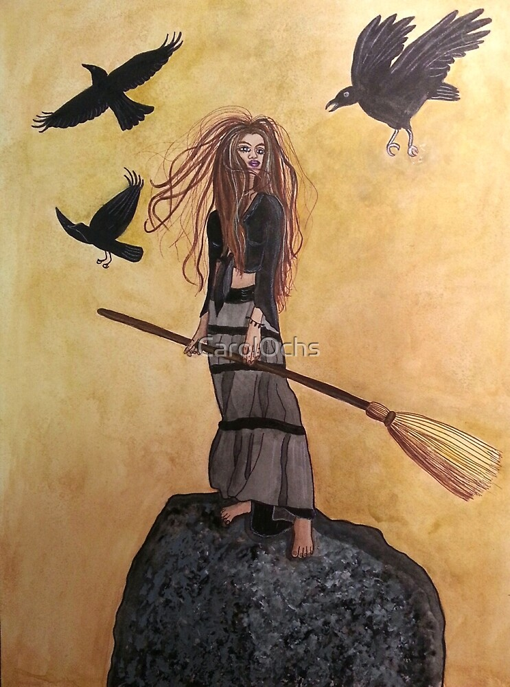Tonight, I FLY! - Witch Art by CarolOchs