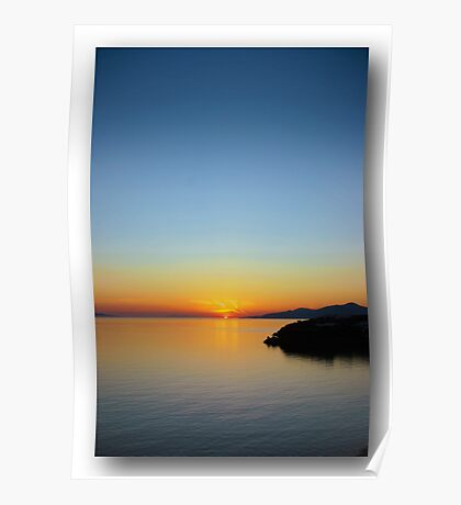 Sunset in Greece Poster
