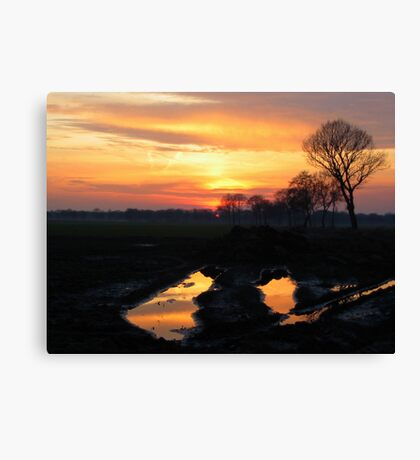 Sunset Color reflections Canvas Print