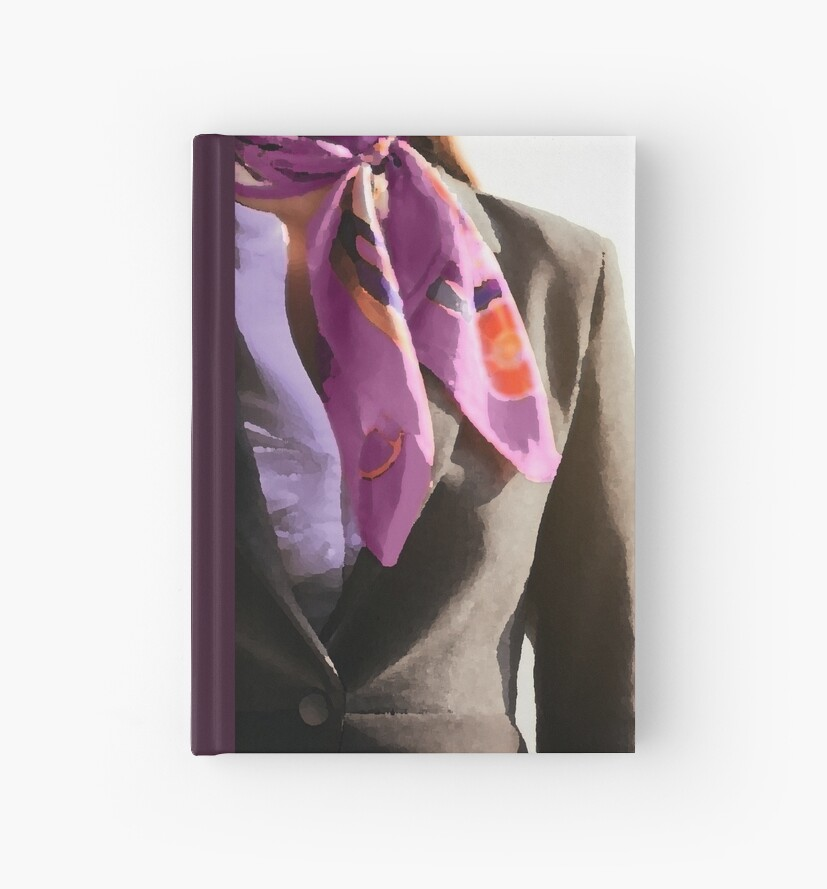 Lavender Neck Scarf Journal by Anna McPhee