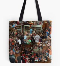 Young and old enjoy a Dutch tradition, in Frenchs Forest Tote Bag