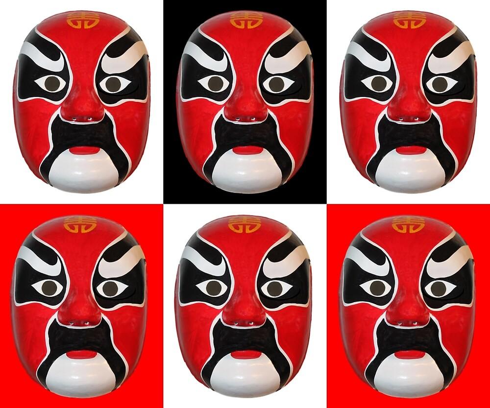 Chinese Mask Pattern by Rockett Graphics