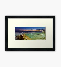 Sunrise Swim Framed Print