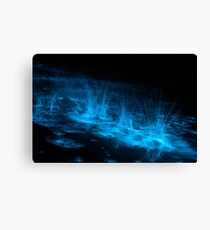 Bioluminescent Splashes Canvas Print