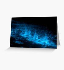 Bioluminescent Splashes Greeting Card