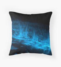 Bioluminescent Splashes Throw Pillow