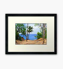 Pyramid Point Sand Dunes Michigan Framed Print