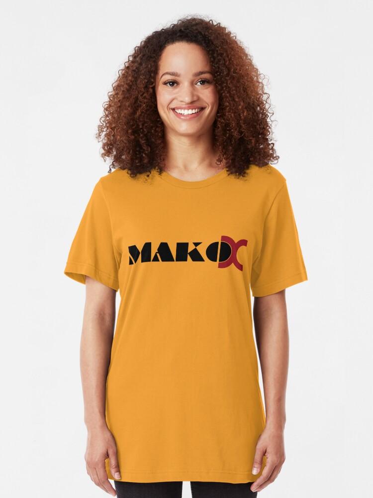Alternate view of Mako DC Black Logo Slim Fit T-Shirt