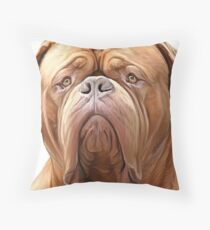 dogue de bordeaux ( french Mastiff) Throw Pillow