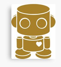 O'BOT: Love is Golden Canvas Print