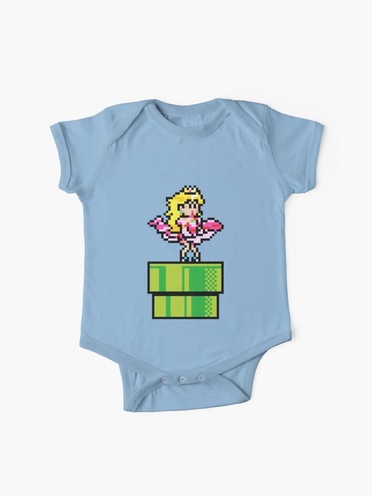 Peach Pixel Art Body Para Bebé